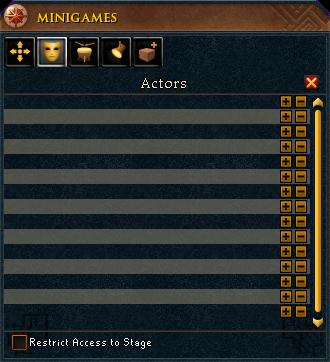Actors menu
