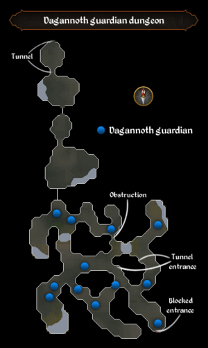 Dagannoth guardian dungeon map