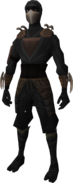 Death Lotus Disciple equipment (black) equipped