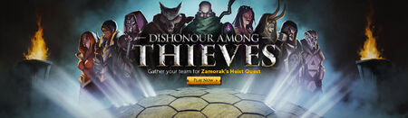 Dishonour Among Thieves head banner