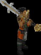 Espada divina de Saradomin equipada