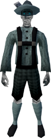 Ghostly lederhosen outfit equipped