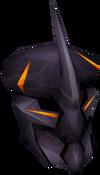 Obsidian ranger helm detail