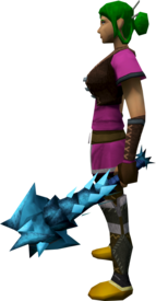 Off-hand drygore mace (ice) equipped