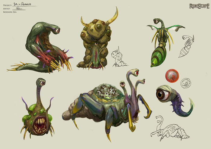 Penance creatures concept art 2
