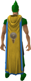 Hooded Invention cape (t) equipped