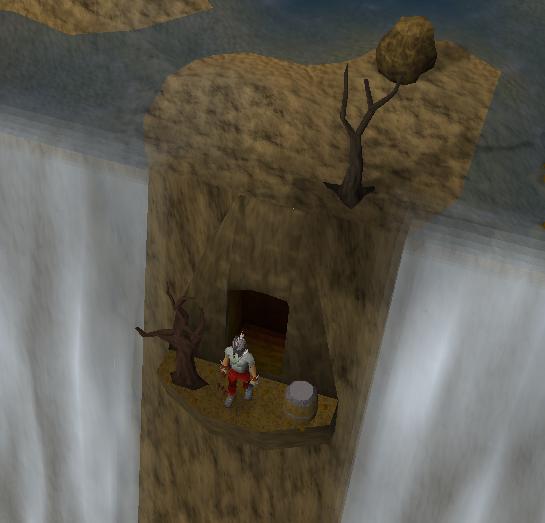 Waterval ingang