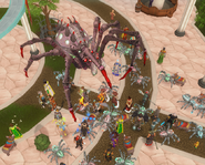 Araxxor in the Grand Exchange