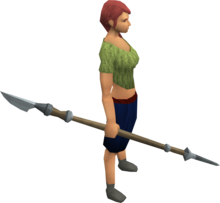 Bathus spear equipped