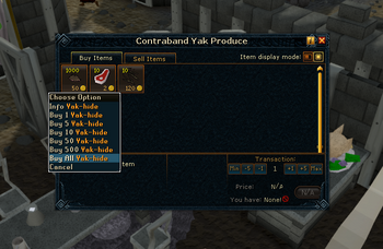 Buying yak hide