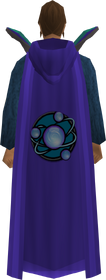 Retro hooded divination cape equipped