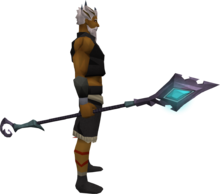 Starfury staff equipped