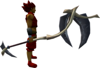 Death's Scythe equipped