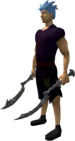 Off-hand khopesh of the Kharidian equipped
