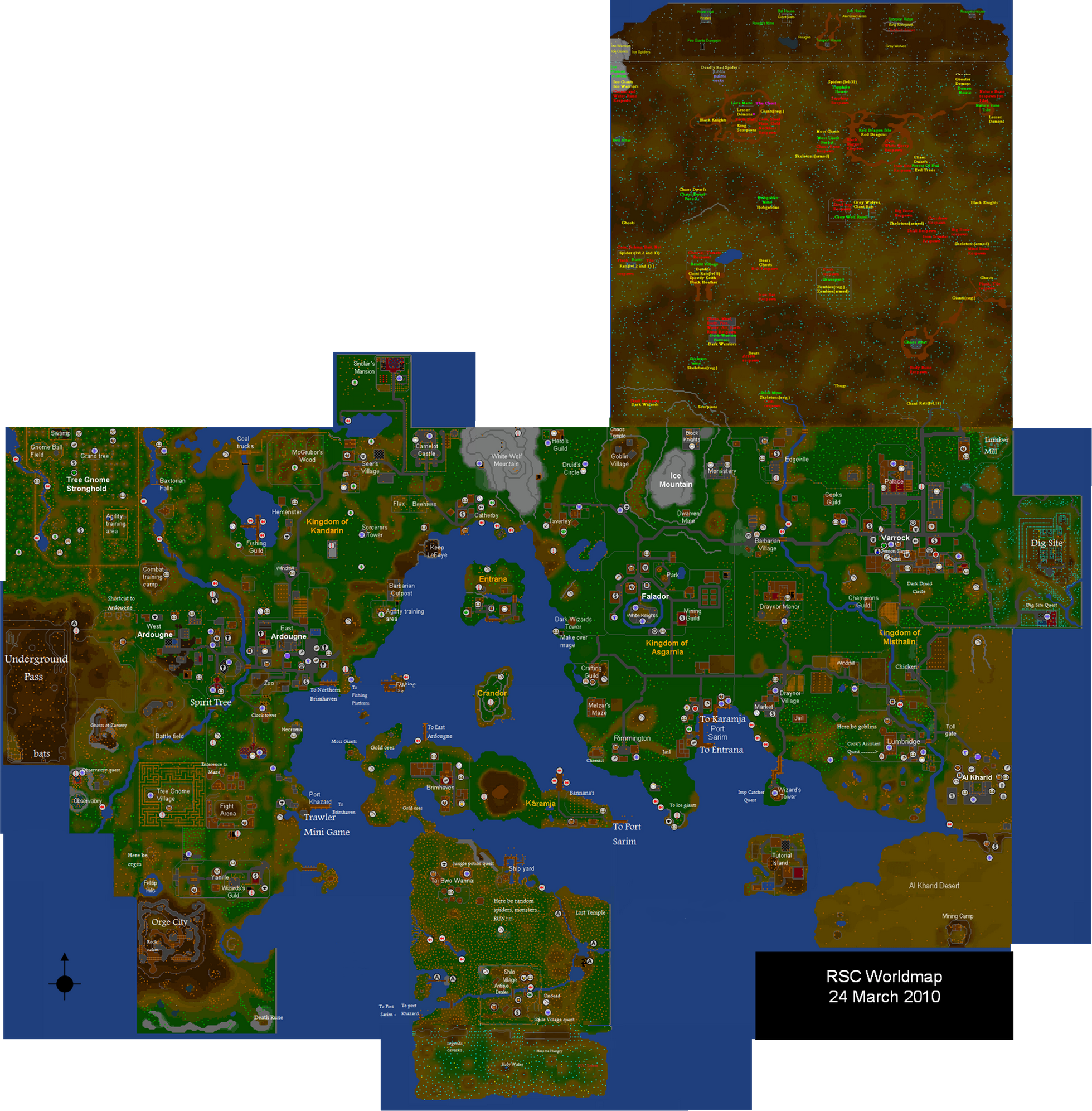 Image - RSC World map.png | RuneScape Wiki | FANDOM powered by Wikia