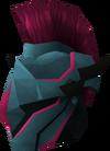 Rune full helm (Zamorak) detail