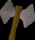 Steel thrownaxe detail old
