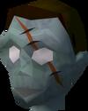 Zombie head (A Clockwork Syringe) detail