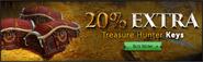 20% extra keys lobby banner