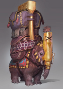 Baby mammoth familiar concept art