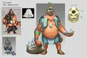 Cyclops salt merchant concept art