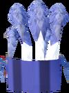 Feather headdress (blue) detail