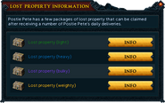 Lost Property information interface
