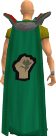 Retro strength cape equipped