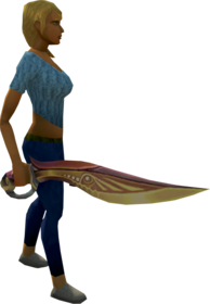 Second-Age sword equipped
