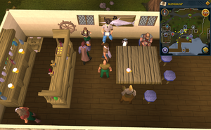 Simple clue Port Sarim bartender
