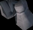 White gauntlets detail