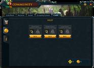 Community (Valkyrie's Return) interface 2