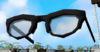 Stylish glasses (black) detail