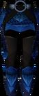 Blue dragonhide chaps detail