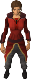 Firemaker's costume (female) equipped