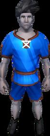 Gnomeballer's kit (blue) equipped