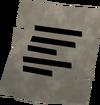 Note ('The Bridger' Burt) detail