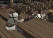 Skull mercenaries arm wrestling