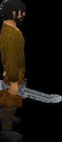 Cimitarra de aço equipada