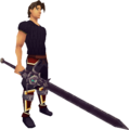 Cursed Arrav Sword equipped.png