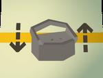 Teak toy box (flatpack) detail