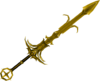 Golden Saradomin godsword detail