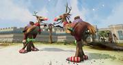 Reindeer-terrorbird racing