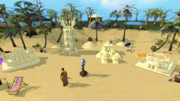 Sandcastle building