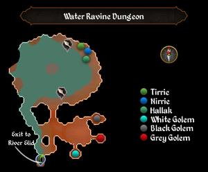 Water Ravine Dungeon map