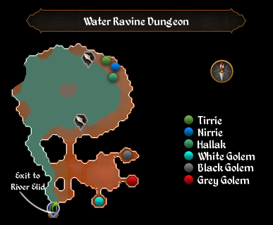 Water Ravine Dungeon map