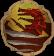 Anti-dragon throwing disc case detail