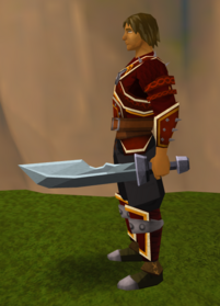 Off-hand iron ceremonial sword II equipped