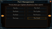 Port management region