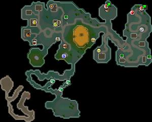 Zanaris mapa